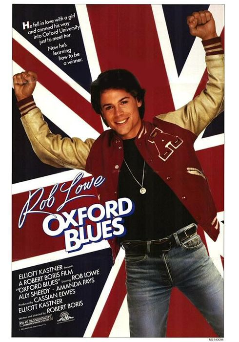 Cartel oficial en español de: Oxford Blues