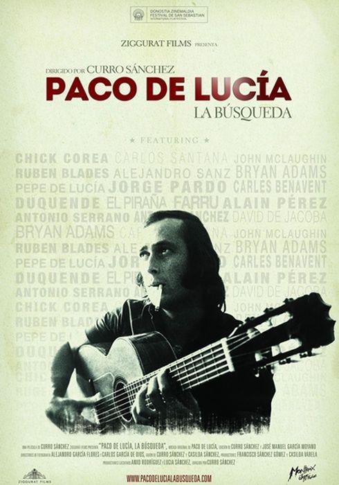 Cartel oficial en español de: Paco de Lucía: La búsqueda