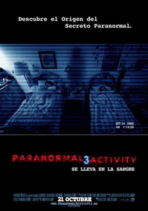 Cartel oficial en español de: Paranormal activity 3