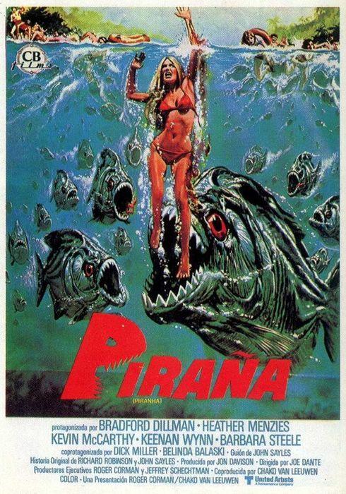 Cartel oficial en español de: Piraña