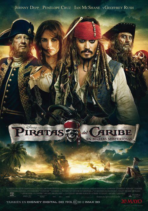 Cartel oficial en español de: Piratas del Caribe: En mareas misteriosas