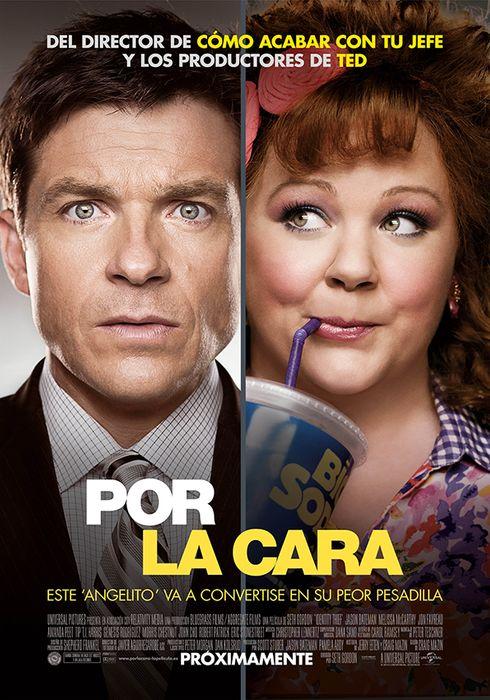Cartel oficial en español de: Por la cara