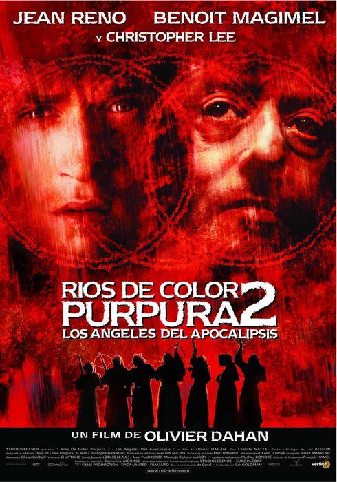 Cartel oficial en español de: Ríos de color purpura 2: Los ángeles del apocalipsis
