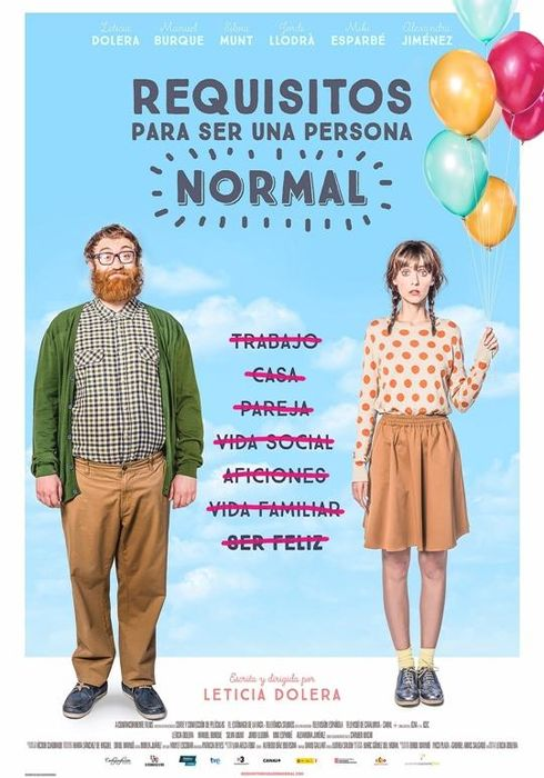 Cartel oficial en español de: Requisitos para ser una persona normal