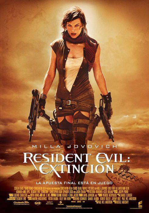 Cartel oficial en español de: Resident Evil 3: Extinción