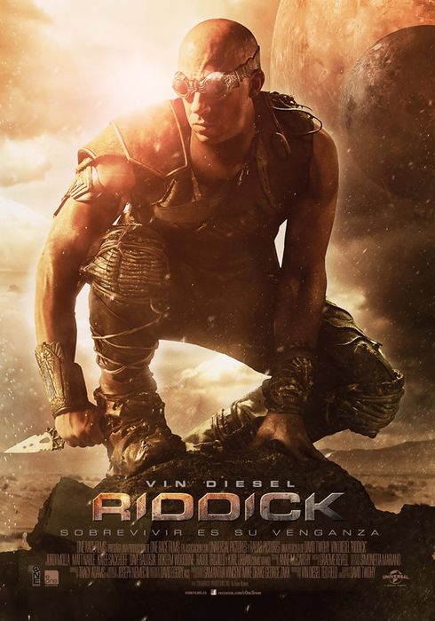 Cartel oficial en español de: Riddick