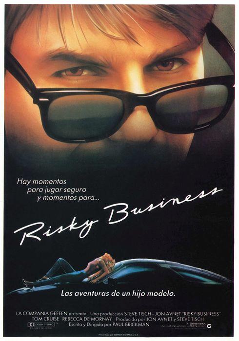 Cartel oficial en español de: Risky Business