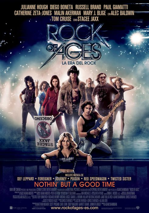 Cartel oficial en español de: Rock of Ages (La Era del Rock)
