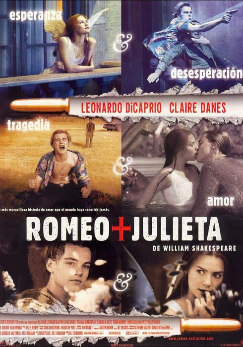 Cartel oficial en español de: Romeo + Julieta de William Shakespeare