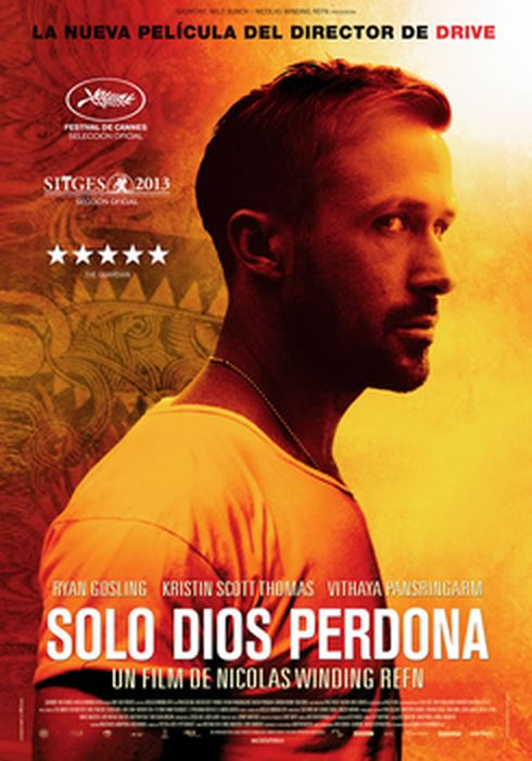 Cartel oficial en español de: Solo Dios perdona