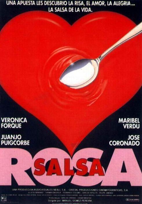 Cartel oficial en español de: Salsa rosa