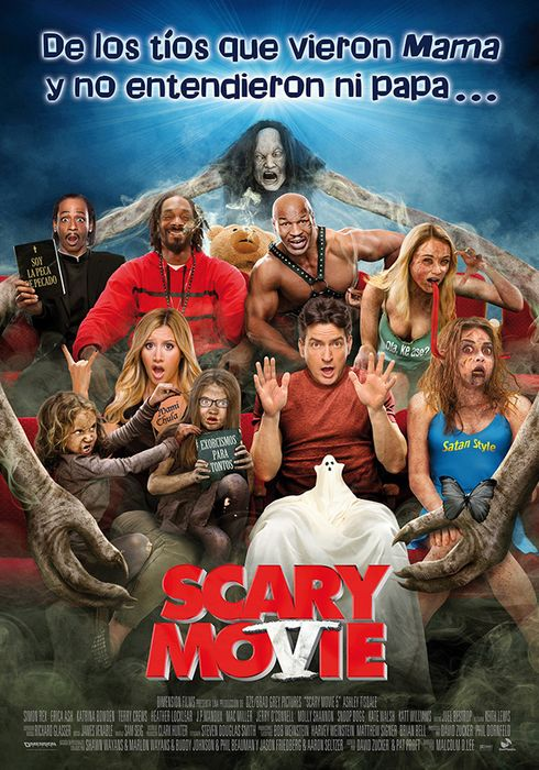 Cartel oficial en español de: Scary Movie 5