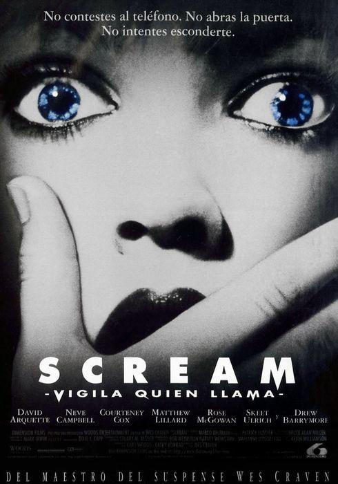 Cartel oficial en español de: Scream. Vigila quién llama