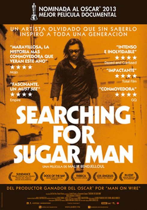 Cartel oficial en español de: Searching for Sugar Man