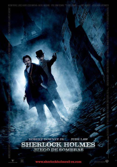 Cartel oficial en español de: Sherlock Holmes: juego de sombras