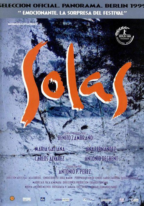 Cartel oficial en español de: Solas