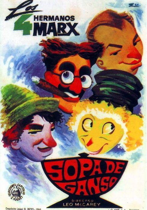 Cartel oficial en español de: Sopa de ganso