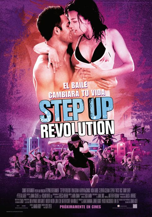 Cartel oficial en español de: Step up revolution