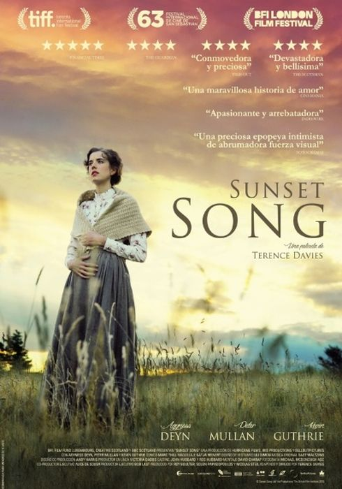Cartel oficial en español de: Sunset Song