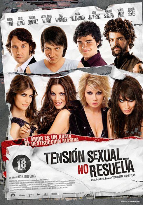 Cartel oficial en español de: Tensión sexual no resuelta