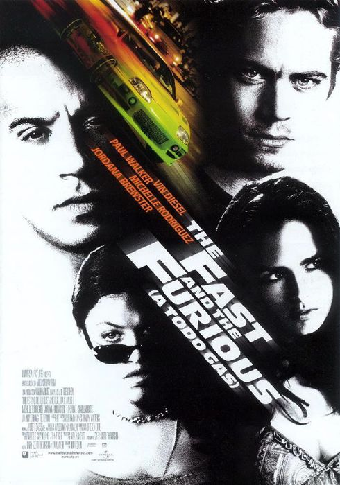 Cartel oficial en español de: The Fast and the Furious (A todo gas)