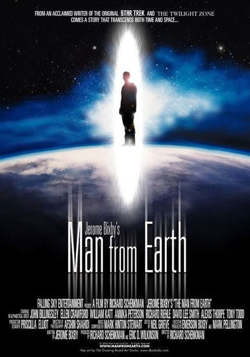 Cartel oficial en español de: The Man from Earth