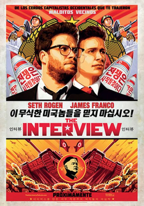 Cartel oficial en español de: The Interview