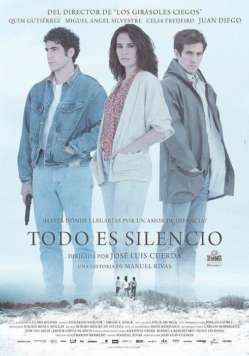 Cartel oficial en español de: Todo es silencio