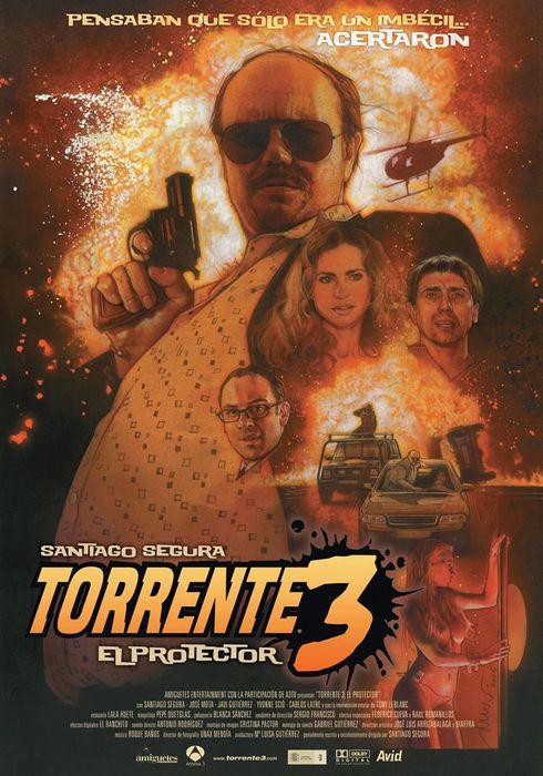 Cartel oficial en español de: Torrente 3: El protector