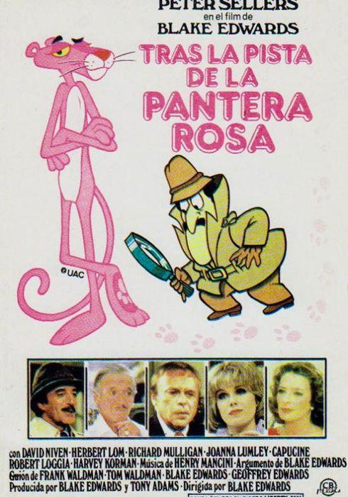 Cartel oficial en español de: Tras la pista de la Pantera Rosa