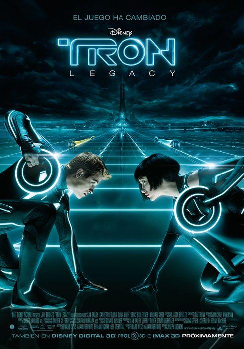 Cartel oficial en español de: Tron: Legacy
