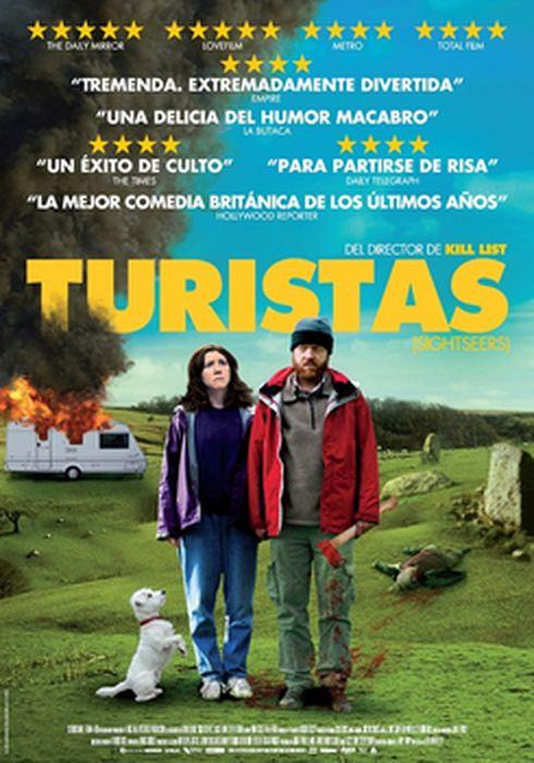 Cartel oficial en español de: Turistas