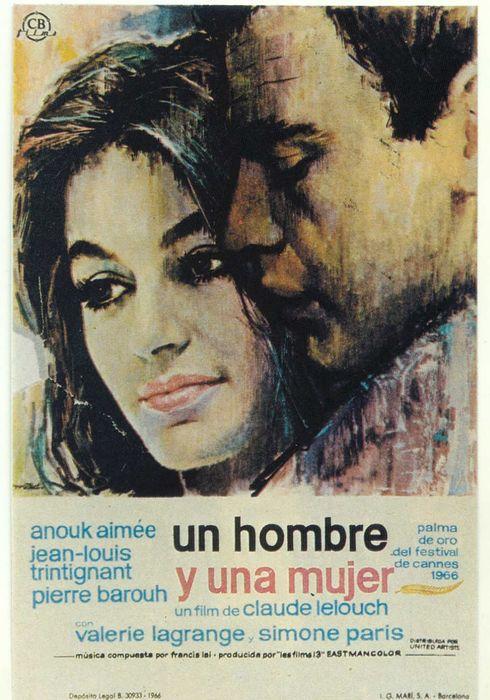 Cartel oficial en español de: Un hombre y una mujer