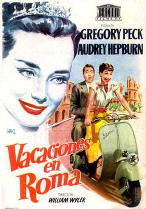 Cartel oficial en español de: Vacaciones en Roma