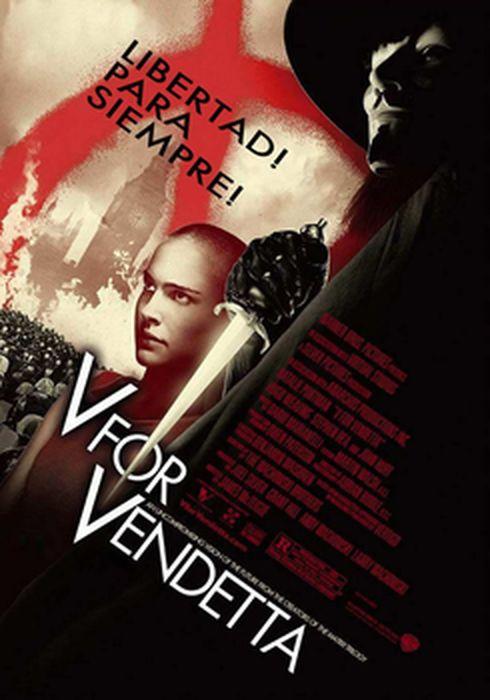 Cartel oficial en español de: V de Vendetta