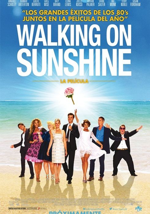 Cartel oficial en español de: Walking on Sunshine
