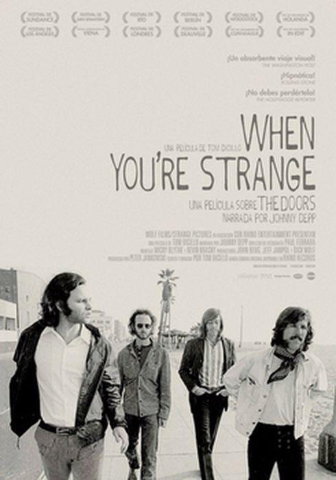 Cartel oficial en español de: When you're strange