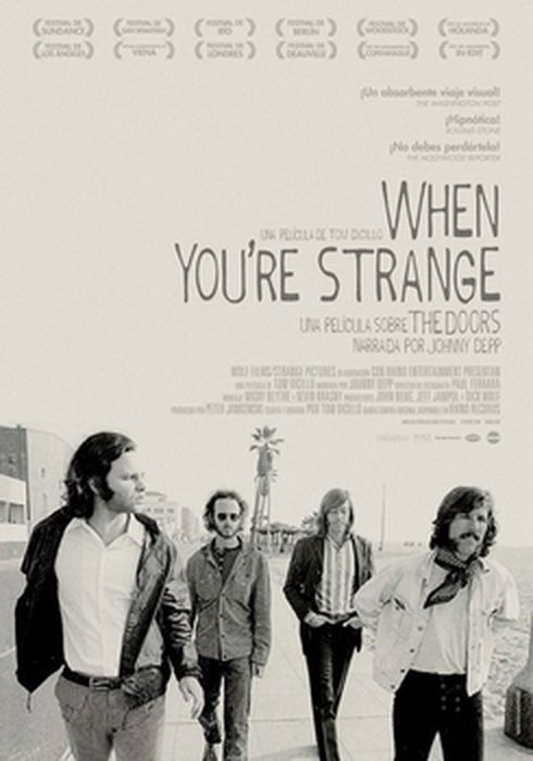 Cartel oficial en español de: When you're strange