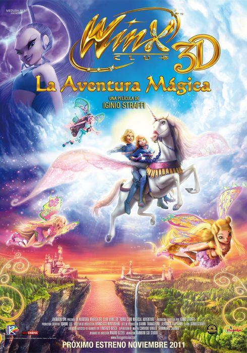Cartel oficial en español de: Winx 3D: La aventura mágica