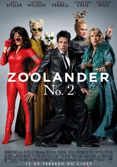 Cartel oficial en español de: Zoolander No. 2
