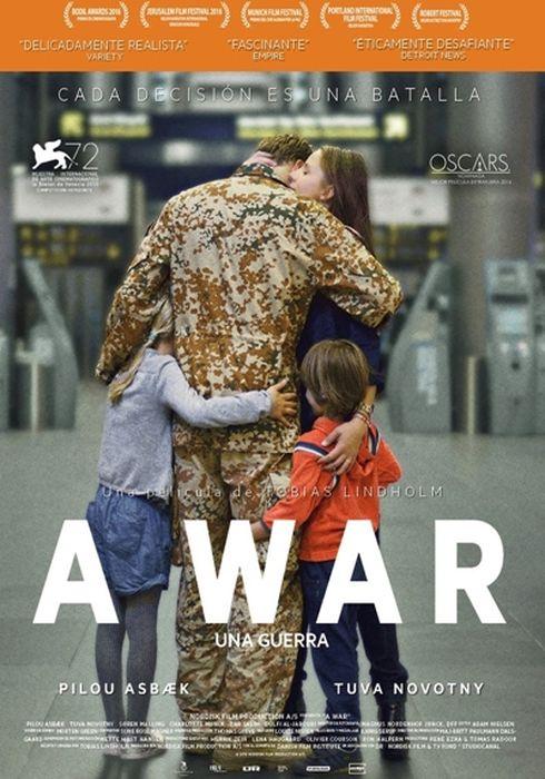Cartel oficial en español de: A War (Una guerra)
