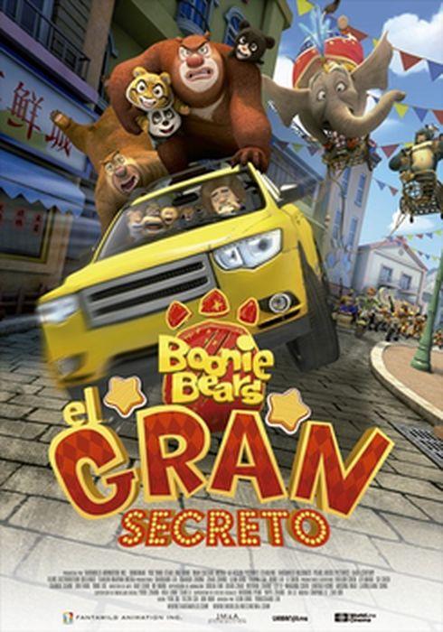 Cartel oficial en español de: Boonie Bears y el gran secreto