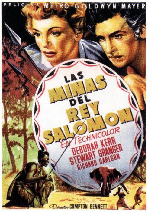 Cartel oficial en español de: Las minas del rey Salomón (1950)