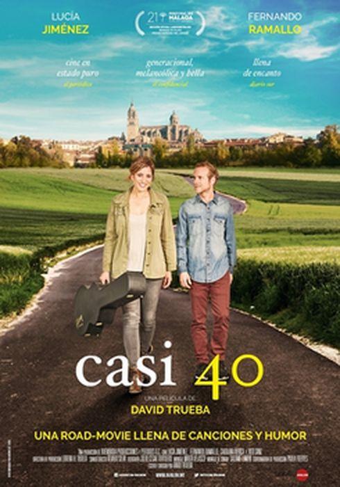 Cartel oficial en español de: Casi 40