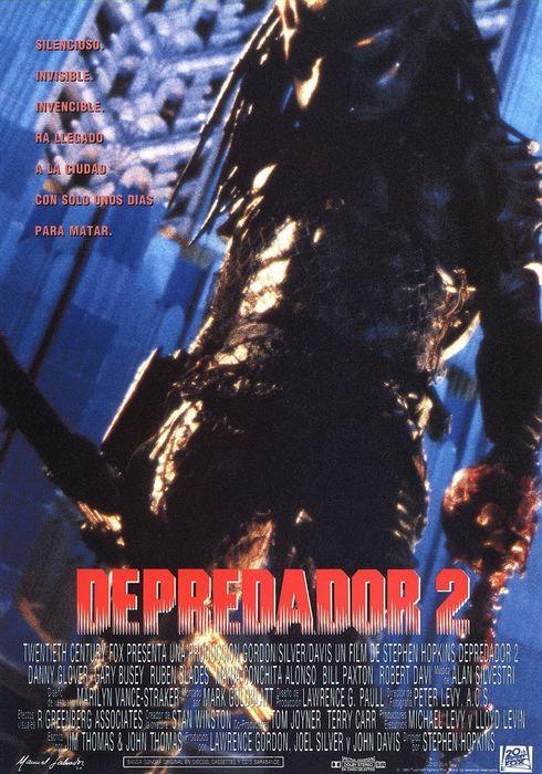 Cartel oficial en español de: Depredador 2