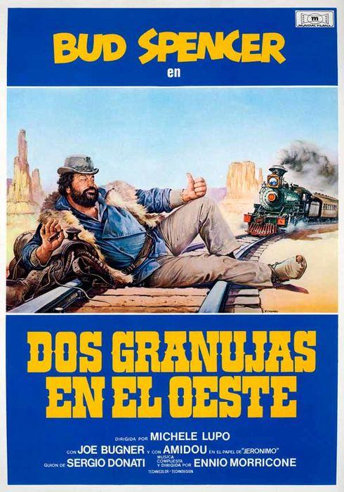 Cartel oficial en español de: Dos granujas en el Oeste