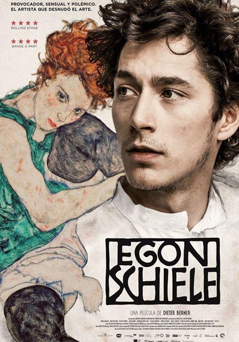 Cartel oficial en español de: Egon Schiele
