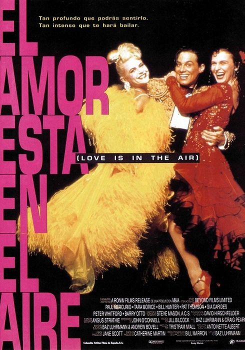 Cartel oficial en español de: El amor está en el aire