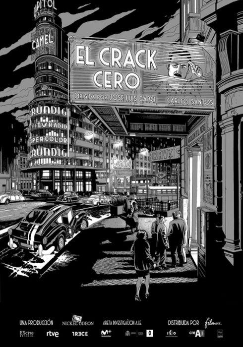 Cartel oficial en español de: El crack Cero