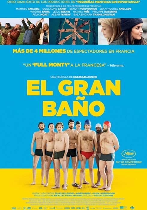 Cartel oficial en español de: El gran baño